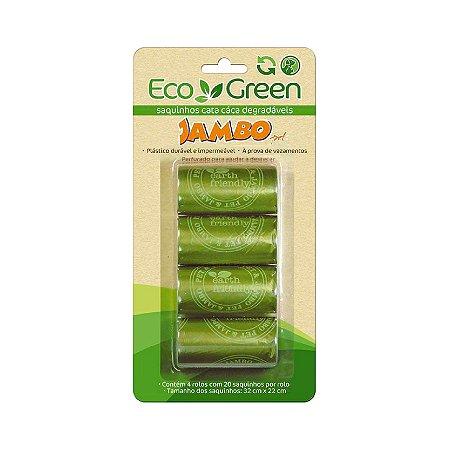 Saquinhos Biodegradável Cata Cáca de Cães Gatos 4 rolos EcoGreen
