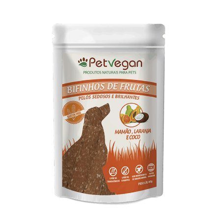 Bifinho para Cachorro Natural Sem Glúten Frutas PetVegan
