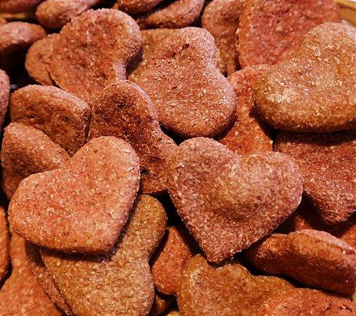 Biscoito Artesanal Natural de Coração Bovino - baba cão