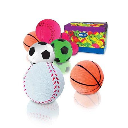 Kit Brinquedo para Cachorro 3 Bolinhas Borracha Mistas Chalesco