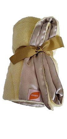 Manta Cobertor e Cetim Dupla Face Amarelo - ZenPet