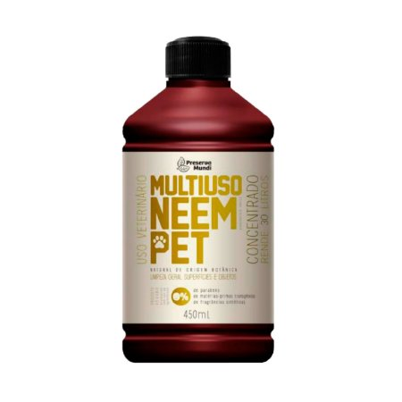 Multiuso Natural Neem Pet para Casa de Cachorro Gato 450 ml Preserva Mundi