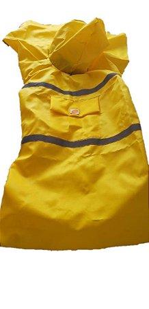 Capa de Chuva para Cachorro Amarela ZenPet