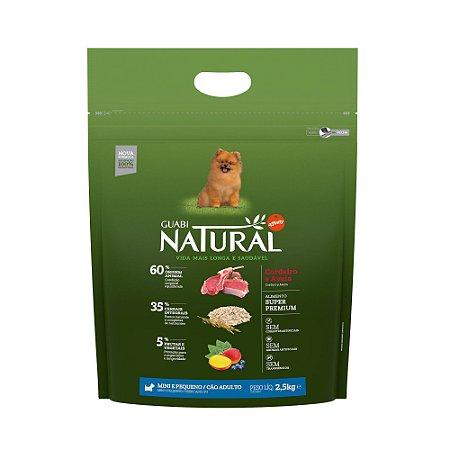 Ração Natural Cordeiro e Aveia para Cães Adultos Mini e Pequeno Porte - Guabi Natural