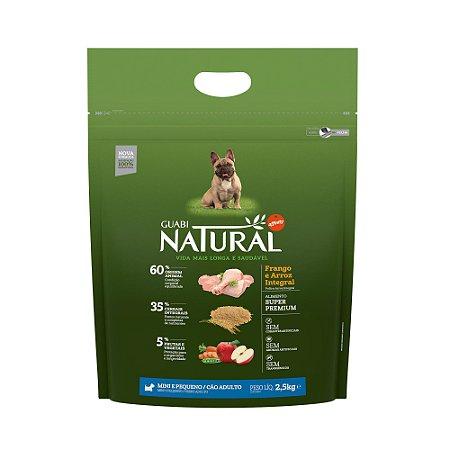 Ração Natural Frango Arroz Cães Adultos Mini Pequeno Porte Guabi Natural