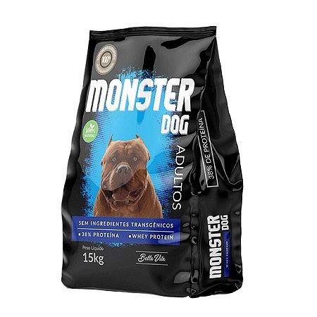 Ração Natural Sem Transgênicos Whey Protein Monster Dog 15kg Bella Vita