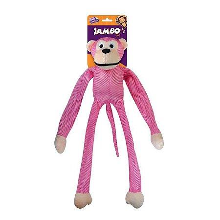 Brinquedo para Cachorro Macaco Mesh Rosa G Jambo Pet