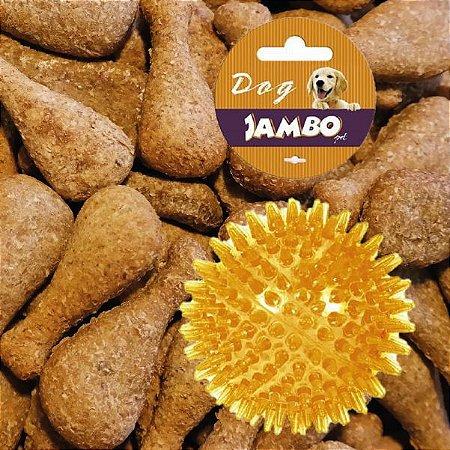 Kit Biscoito para Cachorro Frango Baba Cão 130g com Bolinha P