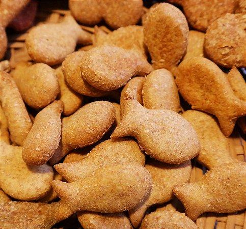 Biscoito Natural para Cachorro sabor Salmão 250g Baba Cão