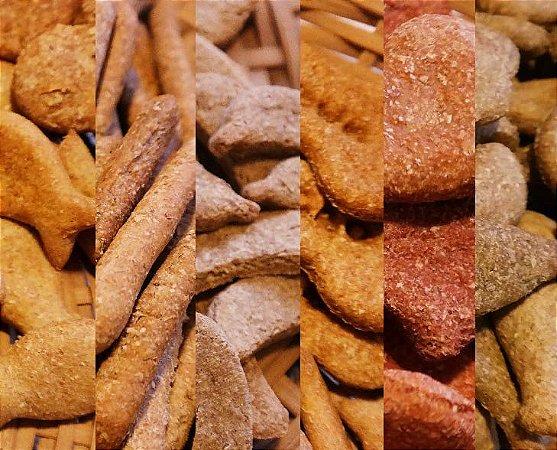 Kit com 6 Biscoitos Naturais para Cachorro Sortidos 64g Baba Cão