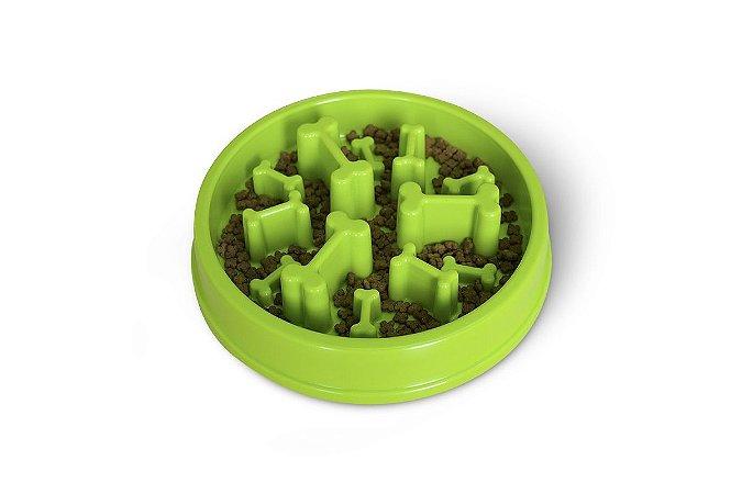 Pote Comedouro Funcional para Cães Nível Difícil Verde Órien Pet