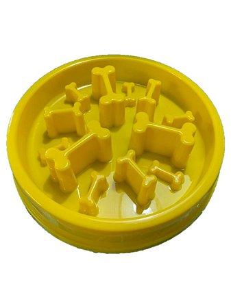 Pote Comedouro Funcional para Cães Nível Difícil Amarelo Órien Pet