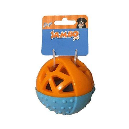 Brinquedo para Cachorro Mordedor Plástico Dogs Laranja Azul Jambo Pet