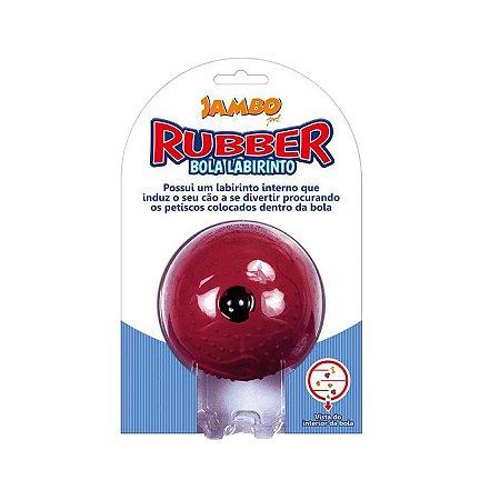 Brinquedo para Cachorro Bola Labirinto Rubber Vermelho Grande Jambo Pet