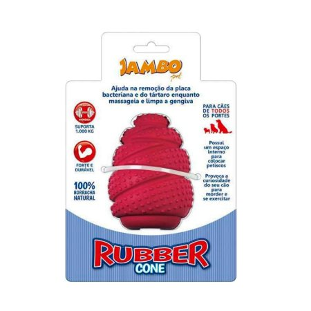 Brinquedo para Cachorro Cone Labirinto Rubber Vermelho G Jambo Pet