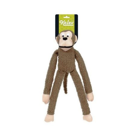 Brinquedo para Cachorro Macaco Pelúcia Marrom Médio Jambo Pet