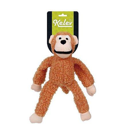 Brinquedo para Cachorro Macaco Pelúcia Laranja Médio Jambo Pet