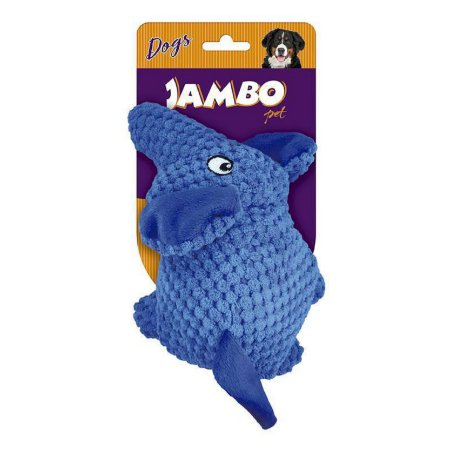 Brinquedo para Cachorro Pelúcia Elefante Azul Jambo Pet