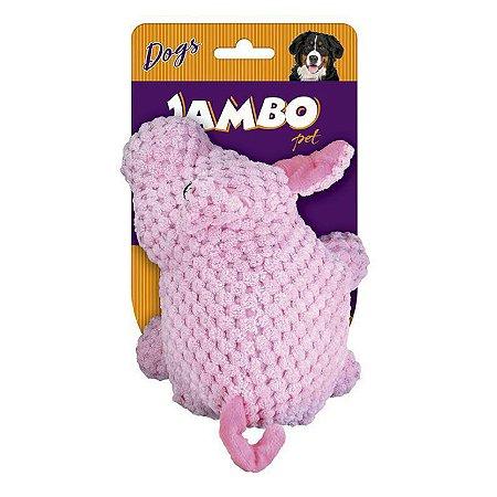 Brinquedo para Cachorro Mordedor Porco Pelúcia Jambo Pet