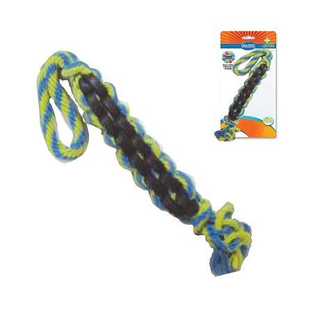 Brinquedo para Cachorro Corda TWIST S Amarelo Azul Chalesco