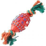 Brinquedo para Cachorro Bola Futebol Americano Vermelho Verde Chalesco