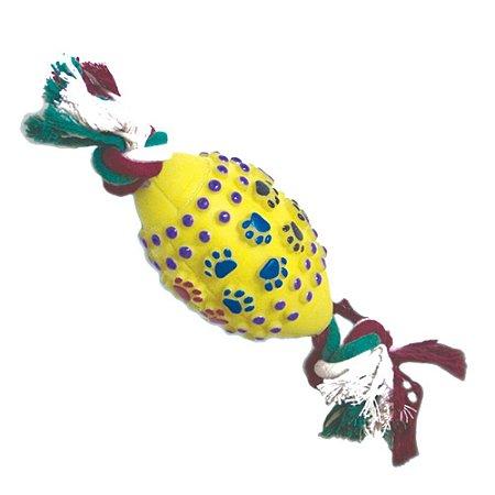 Brinquedo para Cachorro Bola Futebol Americano Amarelo Chalesco