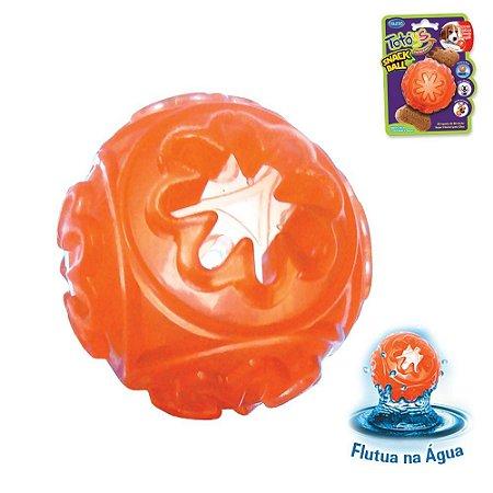 Brinquedo para Cachorro Bola ToToys Snack Ball Laranja Chalesco