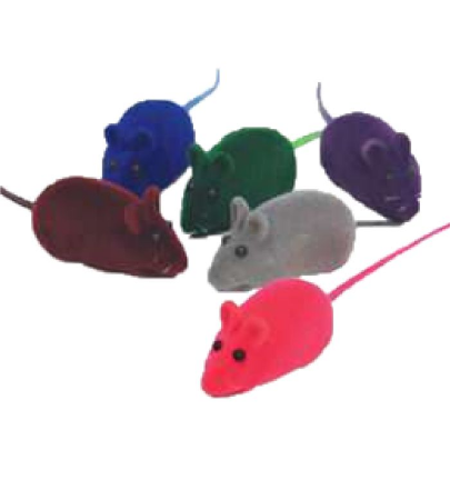 Brinquedo para Gatos Ratinhos Preto Chalesco