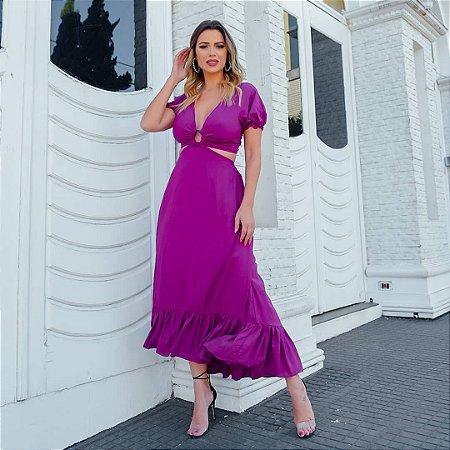 Vestido midi Sabrina