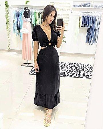 Vestido Letícia - PRETO