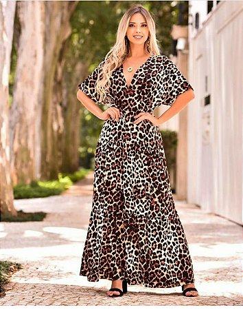 Vestido longo Danielle - ANIMAL PRINT