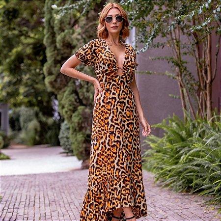Vestido  Alline - ANIMAL PRINT