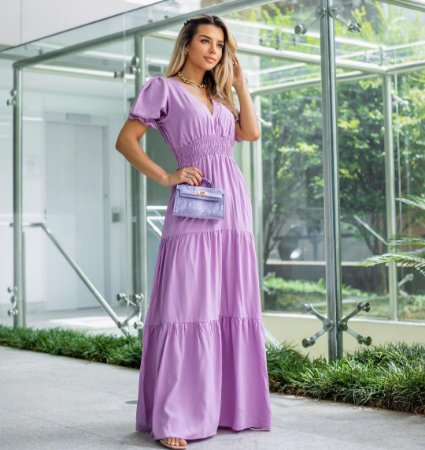 Vestido longo Catherine - LAVANDA