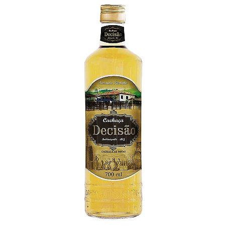 Cachaça Decisão Blend Bálsamo e Amburana Ouro 700 ml