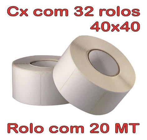 Etiqueta 40x40 Térmica - 32 Rolos - 20 Metros