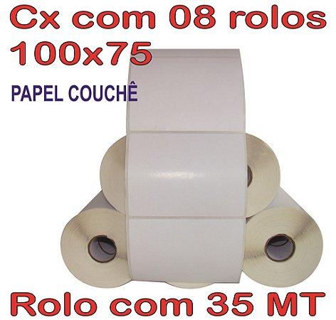 Etiqueta Couchê 100x75 - 8 Rolos