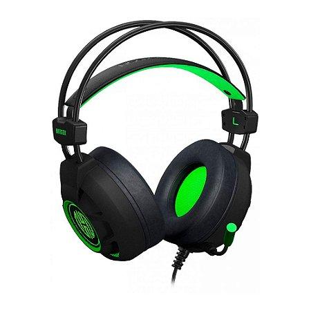 Headset Gamer Hoopson Bruiser Led Usb Verde Dg28g