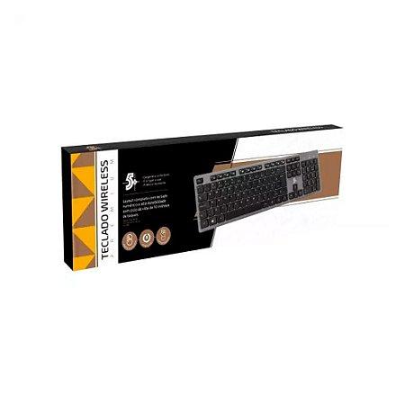 Kit Teclado Sem Fio Office Premium 2.4 Ghz 015-0061