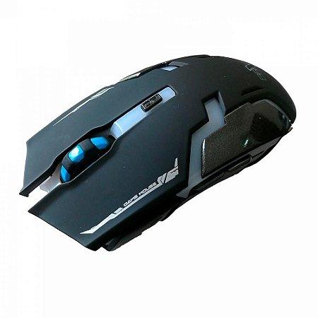 Mouse Gamer Brx Sem Fio Wireless 1600dpi 6 Botoes Hv-ms997gt Preto