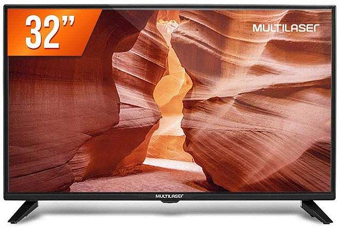 TV LED Multilaser 32´ 2 HDMI 1 USB TL017