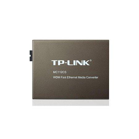 Conversor De Midia Tp-link Mc112cs Wdm De 10/100mbps (smb)