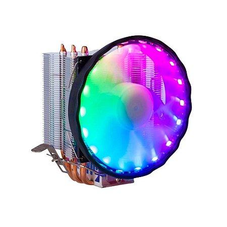 Cooler Gamer Dex Universal Intel E Amd Com Led Rgb - Dx-2018