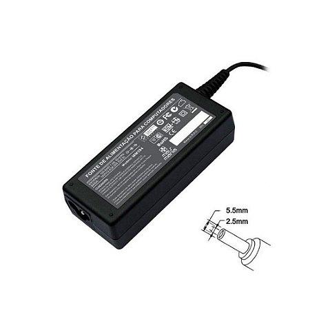 Fonte Para Notebook Itautec 19,5v 3.42a 65w Plug 5.5 X 2,5mm