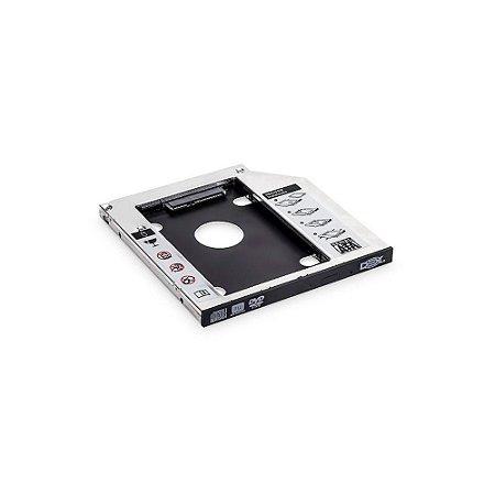 Gaveta Adaptador Para Segundo Hd E Ssd Sata P/ Notebook 9.5mm