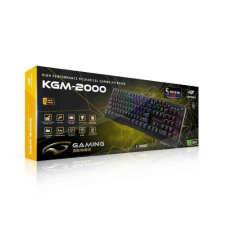 Teclado Mecânico Gamer C3 Tech Rgb, Switch Outemu Blue, Us - Kgm-2000bk