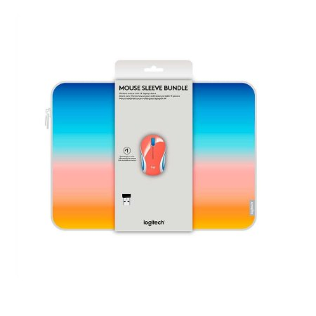 Mouse Wireless Logitech M187 Coral Com Pasta Para Notebook