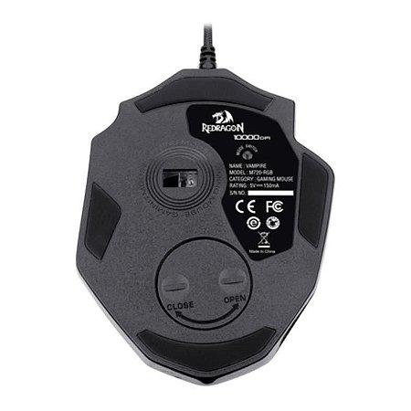 Mouse Gamer Redragon Vampire Rgb Preto 10000dpi M720-rgb