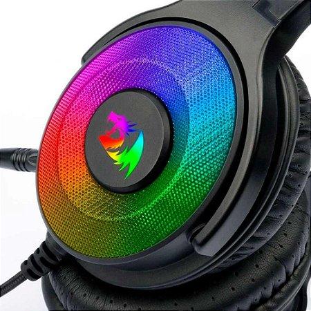 Headset Gamer Redragon Pandora Rgb Surround 7.1 Pto H350rgb
