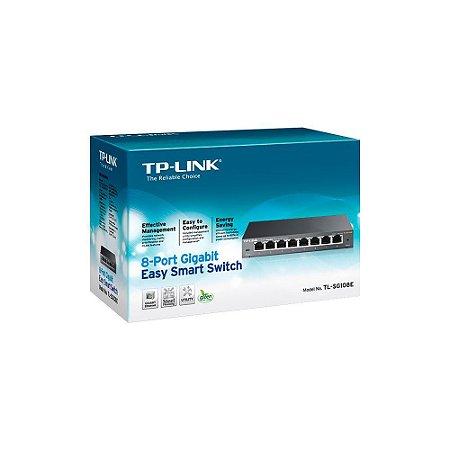 Switch Tp-link 08pt Tl-sg108e Gigabit 10/100/1000 Easy Smart