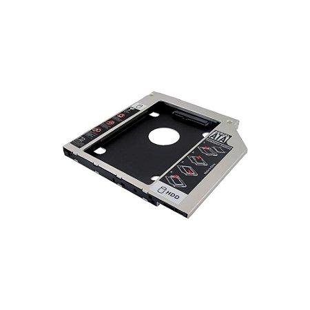 Adaptador P/ Segundo Hd Ssd Sata Notebook Universal 12.7mm